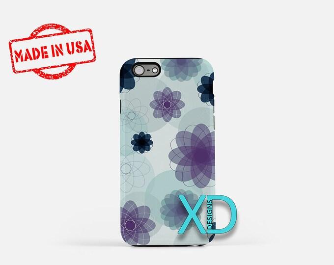 Spiral Flower iPhone Case, Blue iPhone Case, Flower iPhone 8 Case, iPhone 6s Case, iPhone 7 Case, Phone Case, iPhone X Case, SE Case