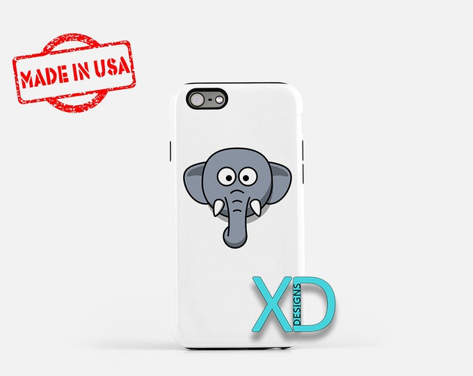Cartoon Elephant iPhone Case, Animal iPhone Case, Cartoon iPhone 8 Case, iPhone 6s Case, iPhone 7 Case, Phone Case, iPhone X Case, SE Case