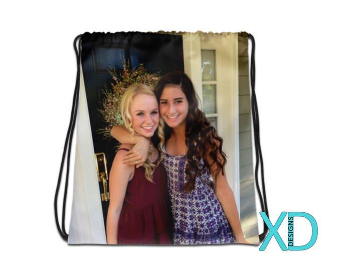 Custom Drawstring Bag, Custom Backpack, Custom Gym Bag, Personalized Bag, Photo Backpack, Custom Sports Bag, Everyday Bag, Back To School