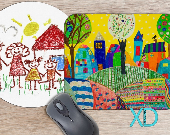 Kid Designed Mousepad, Custom Mouse Pad, Photo Mousepad, Personalized, Birthday Present, Gift Idea, Gift For Parents, Back To School, Office