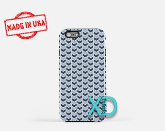 Navy Arrow Phone Case, Navy Arrow iPhone Case, Abstract iPhone 7 Case, Blue, Abstract iPhone 8 Case, Navy Arrow Tough Case, Clear Case
