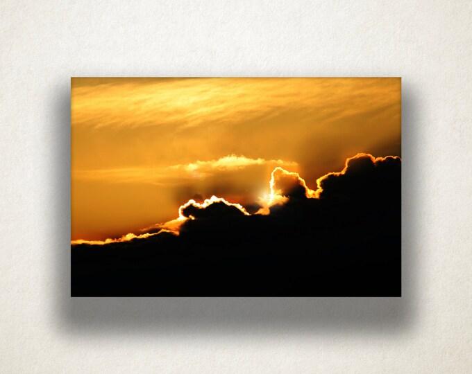 Sun Peeking Over Clouds Canvas Art, Sun and Clouds Wall Art, Sky Canvas Print, Photograph, Canvas Print, Home Art, Wall Art Canvas