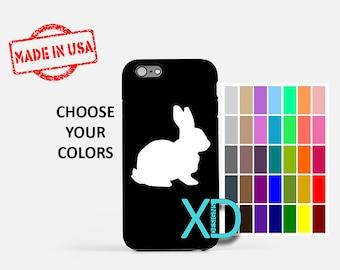 Simple Bunny iPhone Case, Rabbit iPhone Case, Bunny iPhone 8 Case, iPhone 6s Case, iPhone 7 Case, Phone Case, iPhone X Case, SE Case