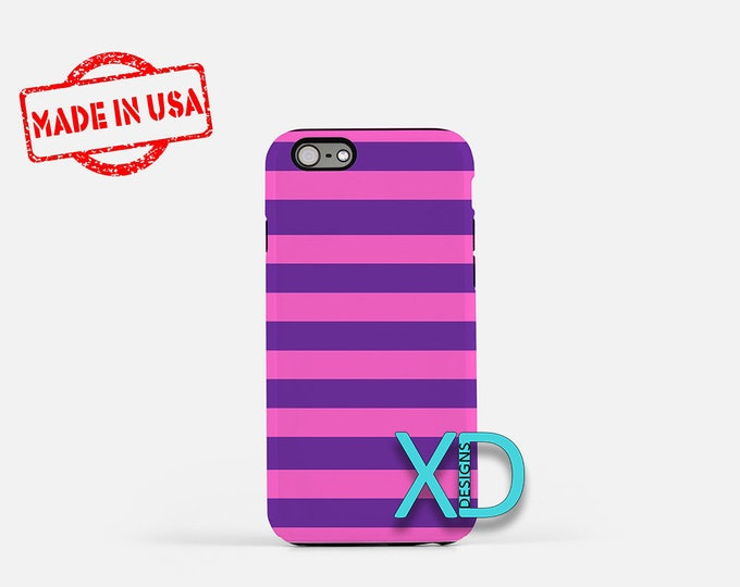 Stripe iPhone Tough Case, Purple and Pink iPhone Case, Purple and Pink Stripe, iPhone Tough Case, Stripe Tough Case, Purple Stripe, Pink