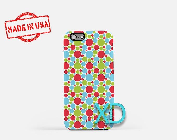 Bubbly Phone Case, Bubbly iPhone Case, Spot iPhone 7 Case, Multicolor, Spot iPhone 8 Case, Bubbly Tough Case, Clear Case, Dots, Bubbles