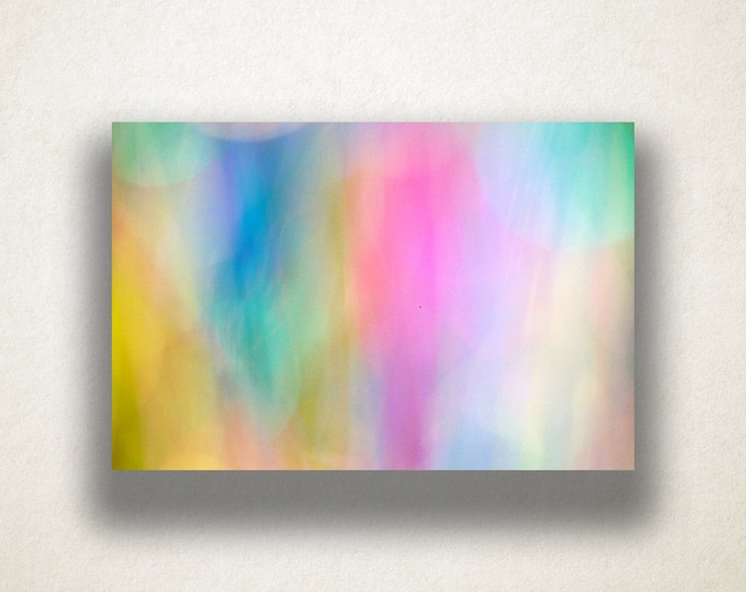 Pastel Color Out of Focus Design Canvas Art Print, Pastel Design Wall Art, Pastel Canvas Print, Canvas Art, Canvas Print, Home Art, Wall Art