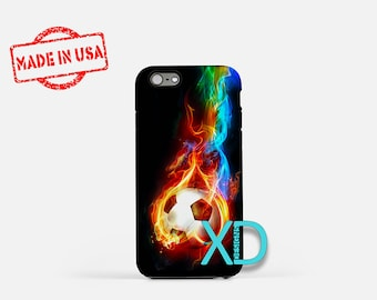 Soccer Ball Phone Case, Soccer Ball iPhone Case, Futbol iPhone 7 Case, Multicolor, Futbol iPhone 8 Case, Soccer Ball Tough Case, Clear Case