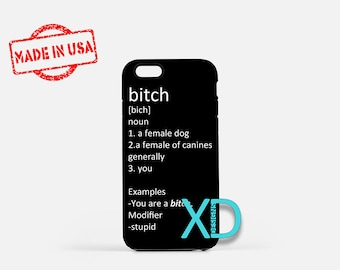 Bitch Definition iPhone Case, Vulgar iPhone Case, Bitch iPhone 8 Case, iPhone 6s Case, iPhone 7 Case, Phone Case, iPhone X Case, SE Case