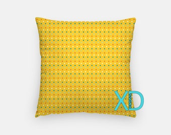 Golden Dot Pillow, Goldenrod Pillow Cover, Dandelion Pillow Case, Yellow Pillow, Artistic Design, Home Decor, Decorative Pillow Case, Sham