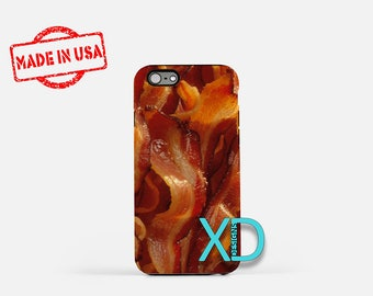 Bacon iPhone Case, Bacon Design iPhone Case, Bacon iPhone 8 Case, iPhone 6s Case, iPhone 7 Case, Phone Case, iPhone X Case, SE Case Funny