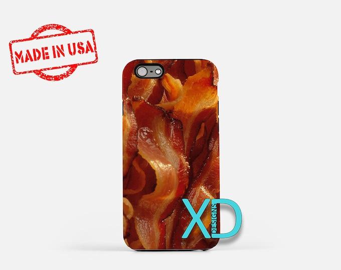 Bacon iPhone Case, Bacon Design iPhone Case, Bacon iPhone 8 Case, iPhone 6s Case, iPhone 7 Case, Phone Case, iPhone X Case, SE Case Funny