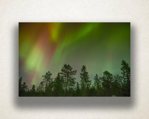 Aurora Borealis Alaska Giclee Canvas Picture Wall Art