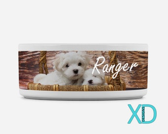 Custom Pet Bowl, Photo Pet Gift, Pet Food Dish, Water Bowl, Personalized, Dog Bowl, Gift For Animal Lover, Dishwasher Safe, Food Dish
