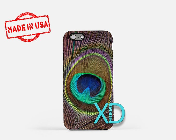 Peacock Feather iPhone Case, Feather iPhone Case, Peacock iPhone 8 Case, iPhone 6s Case, iPhone 7 Case, Phone Case, iPhone X Case, SE Case