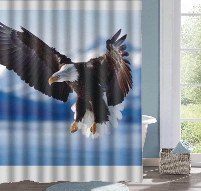 Eagle Shower Curtain Bath Real Bird Interesting Custom Decorative