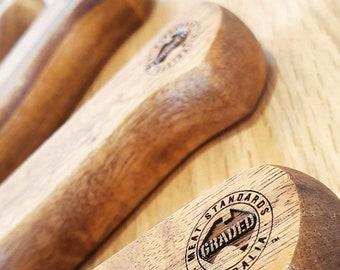 Jumbo Steak Knives Custom Engraved - Christmas Gift & Perfect Men's Gift (Baccarat Set of 4)