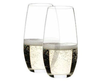 Riedel 'O' Series Stemless Champagne Flutes 2pc - For Wine Lovers, Engagement Gift, Wedding Gift, Christmas Present