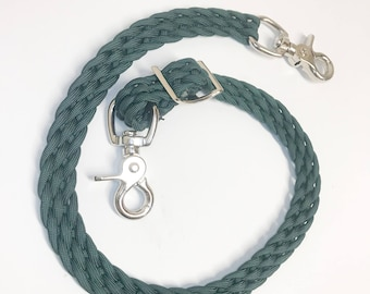 Wither Strap, hunter green wither strap, horse tack, breast collar, breast collar strap, paracord tack, horse