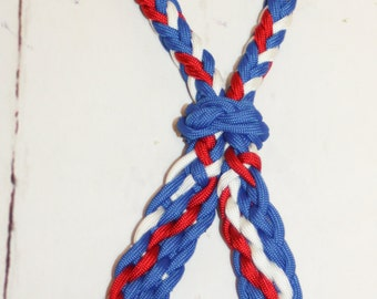 Indian War bridle, war bridle,  red white and blue tack, horse tack, paracord horse tack, paracord, braided war bridle, braided tack