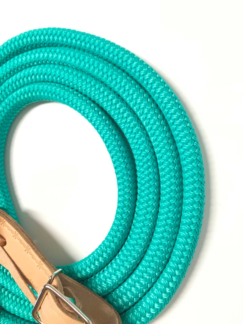 rope reins yacht rope reins turquoise rein horse tack reins Yacht rope reins yacht reins loop reins natural buckle slobber straps