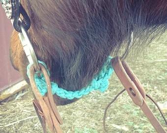 Bit hobble, curb strap, chinstrap, horse tack, paracord horse tack, custom tack, braided tack