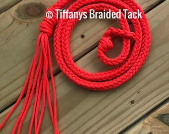 Over and Under Whip,   horse tack, barrel racing, barrel racing whip, whip, neon orange whip
