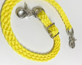 Wither Strap, neon yellow wither strap, horse tack, braided wither strap, breast collar strap, paracord wither strap, horse