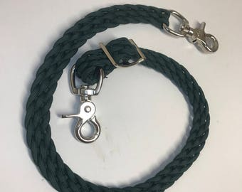 Wither Strap, hunter green wither strap, horse tack, braided wither strap, breast collar strap, paracord wither strap, horse