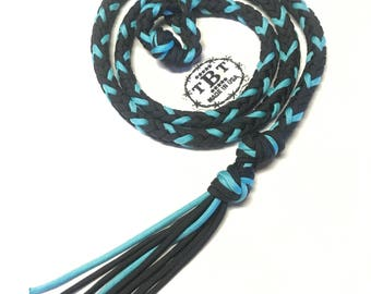 custom over and under whip, custom horse tack, paracord tack, whip, barrel racing tack