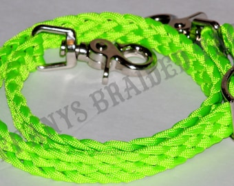 Wither Strap neon lime horse tack paracord horse tack