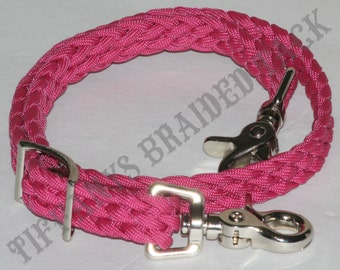 wither strap, breast collar wither strap,  fuschia horse tack, paracord tack