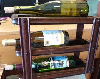Antique Singer Sewing Cabinet Drawer Frame Wine Rack. Wine Bottle Holder. Bar, Kitchen, Storage and Home Decor. Worldwide Shipping!!