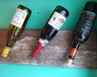 Gift! Reclaimed Barn Board and Bed Spring Wine Rack. Wine Bottle Holder.  Bar, Kitchen, Storage and Home Decor. Free Shipping!!