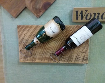 Wedding Gift! Reclaimed Barn Board and Bed Spring Wine Rack. Wine Bottle Holder.  Bar, Kitchen, Storage and Home Decor. Worldwide Shipping!!