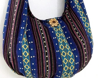 Woven Cotton Bag Hippie bag Hobo Boho bag Shoulder bag Sling bag Gypsy bag Tote Crossbody bag Purse Women bag Handbags Long Strap (WF17)