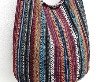 Woven Cotton Bag Hippie bag Hobo Boho bag Shoulder bag Sling bag Messenger bag Tote Crossbody bag Purse Women bag Handbags Long Strap CWB11