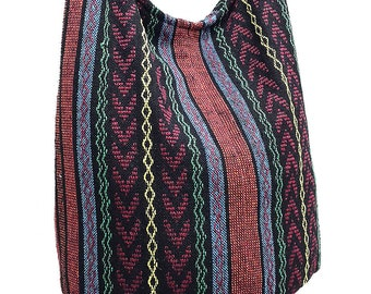Woven Cotton Bag Hippie bag Hobo Boho bag Shoulder bag Sling bag Messenger bag Tote Crossbody bag Purse Women bag Handbags Long Strap CWB