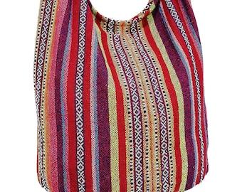 2bdb7010013 Woven Cotton Bag Hippie bag Hobo Boho bag Shoulder bag Sling bag Messenger  bag Tote Crossbody bag Purse Women bag Handbags Long Strap CWB17