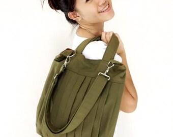 Handbags Bag Canvas Bag Diaper bag Shoulder bag Hobo bag Tote bag Messenger Purse Everyday bag  Olive Green  Martha