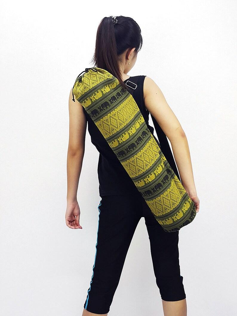 Handmade Yoga Mat Bag Yoga Bag Sports Bags Tote Yoga Sling bag image 0
