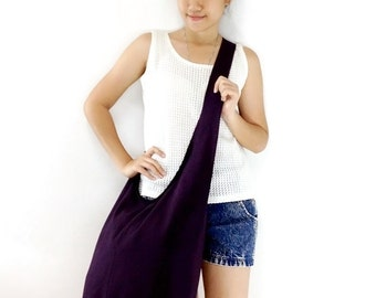 Handbags Canvas Bag Cotton bag Shoulder bag Sling bag Hobo bag Boho bag Messenger bag Tote bag Crossbody bag Purse  Purple(dark)