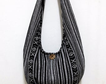 Woven Cotton Bag Hippie bag Hobo Boho bag Shoulder bag Sling bag Messenger bag Tote Crossbody bag Purse Women bag Handbags Long Strap (WF1)