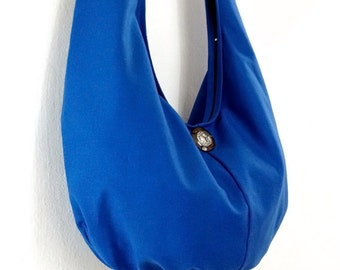 Handbags Canvas Bag Shoulder bag Sling bag Hobo bag Boho bag Messenger bag Tote bag Crossbody Purse  Elephant button  Dark Blue