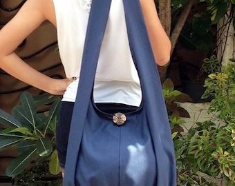 Handbags Canvas Bag Shoulder bag Sling bag Hobo bag Boho  bag Messenger bag Tote bag Crossbody Purse  Navy Blue