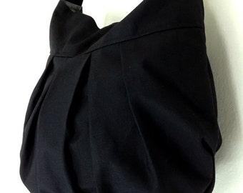 Handbags Canvas Bag Shoulder bag Hobo bag Boho  bag Tote bag Messenger Purse Everyday bag  Black  Nadia
