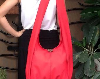 Handbags Canvas Bag Shoulder bag Sling bag Hobo bag Boho  bag Messenger bag Tote bag Crossbody Purse  Red