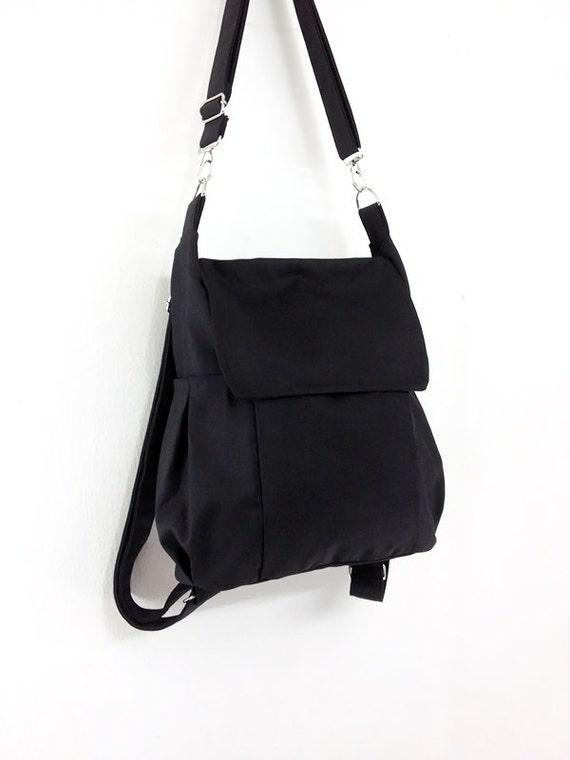 36f18628c25 Canvas Bag Cotton bag diaper bag Shoulder bag Hobo bag Tote bag Messenger  bag Purse Backpack Everyday bag Black Susie