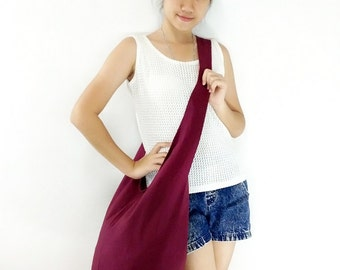 Handbags Canvas Bag Cotton bag Shoulder bag Sling bag Hobo bag Boho bag Messenger bag Tote bag Crossbody bag Purse Maroon