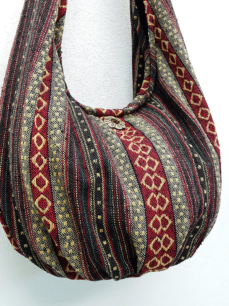Handmade Woven Bag Handbags Purse Tote Thai Cotton Bag Hippie  beb68d2bdb381