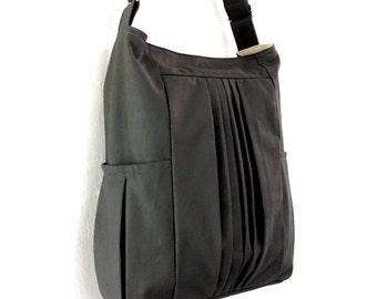 Handbags Cotton bag Canvas Bag Diaper bag Shoulder bag Hobo bag Tote bag Messenger Purse Everyday bag  Dark Gray  Paula